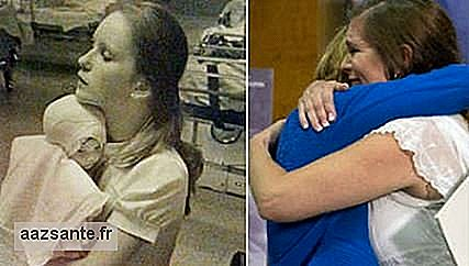 Amanda Scarpinati has been reunited with the nurse who cared for her as a baby