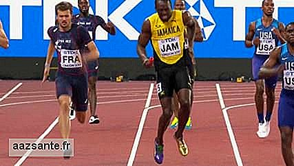 In his last race, Bolt feels pain and can not finish the race